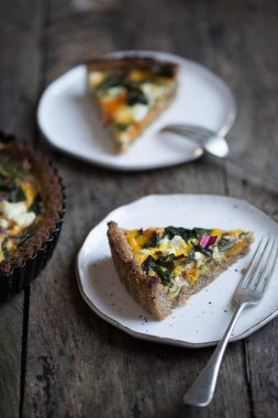 Hazelnut Crust Rainbow Quiche