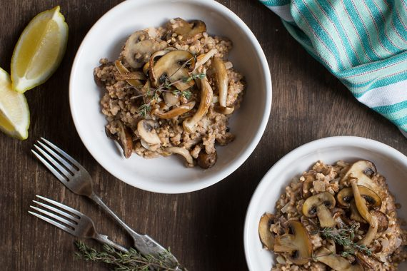 Buckwheat and Mushroom Risotto